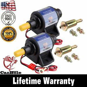 2pc New Electric Gas Diesel Fuel Pump Carburetor Domestic 4 7psi 35 Gph Transfer