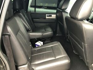 Ford Expedition Rear 2nd Row Passenger Leather Bucket Seats Black