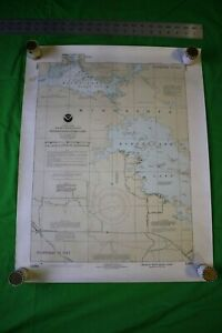Vintage 1991 Nautical Chart Border Lakes Minnesota Western Kabetogama 20x25