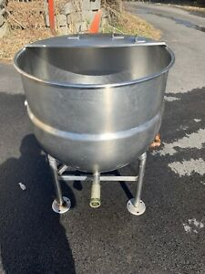Bh Hubbert 40 Gallon Stainless Steel Direct Steam Kettle Pedestal Base