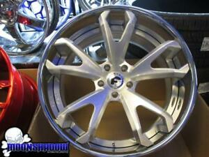 22 Forgiato F2 19 Ecl Ecx Brushed Silver Wheels Rims Gm Chevy Impala Ss Caprice