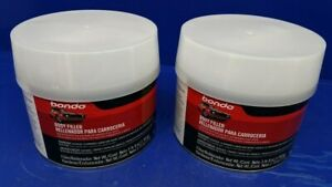 Lot Of 2 Bondo Lightweight Auto Body Filler 56 Oz Putty Can Vehicle Restoration