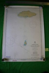 Lake Superior Caribou To Michipicoten 33x23 5 Vintage 1980 Nautical Chart Map