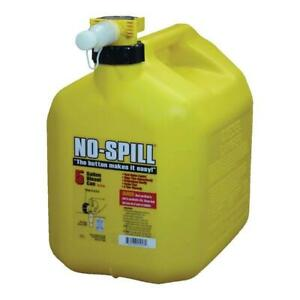 5 Gal Poly Diesel Can Fuel Spill Gallon Carb Yellow Epa Compliant Gas Spout