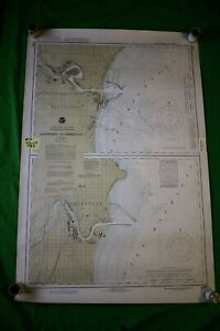 Michigan Wisconsin Manitowoc Sheboygan 38x25 Vintage 1983 Nautical Chart Map