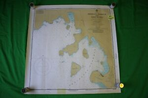 Lake Superior Peninsula Harbour Munro 27 25x28 Vintage 1975 Nautical Chart Map
