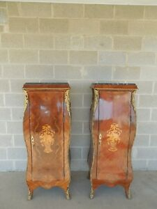 Pair French Louis Xv Style Reproduction Semanier Cabinets 54 5 H X 20 W
