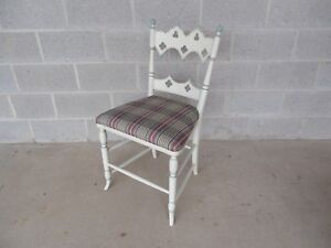 Hickory Chair Co Gothic Paint Decorated Vanity Desk Chair