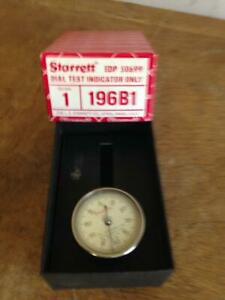 Starrett Universal Back Plunger Dial Test Indicator 196b Jeweled 001 Boxed