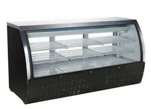 Omcan Rs cn 0200 b 82 32cf Commercial Refrigerated Bakery Deli Display Case