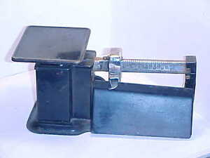 Antique Triner Postage Balance Scale 0 To 16 Ounces In 1 2 Ounce Increments