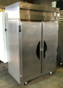 Victory Vf 2 Double Door Stainless Freezer Reach In Used