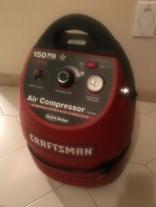 Craftsman Quiet Drive Air Compressor 150 Psi 1 5 Gallon Plus 50ft Hose