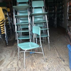 55 Vtg Same Heywood Wakefield Hey Woodite Student Size School Chairs Very Good