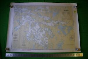Ontario Lake Of The Woods Whitefish Bay 46 5x33 Vintage 1989 Nautical Chart Map