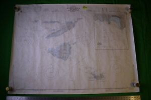 West Indies Antilles Leeward Anguilla 47x35 Vintage 1984 Nautical Chart Map