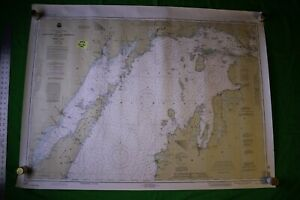 Lake Michigan North End Green Bay 48x36 Vintage 1993 Nautical Chart Map