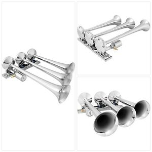 Vixen Horns Loud 149db 3 triple Trumpet Train Air Horn With 12v Electric Solenoi