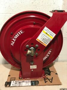Alemite Lube Oil Hose Reel Spring Loaded Dispenser 1 2 X 50 1600psi 7335 b
