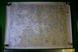 Canada Lake Of The Woods Sabaskong Bay 46 5x33 Vintage 1989 Nautical Chart Map