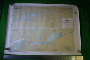 Canada Rainy Lake Seine River Sturgeon 46 5x33 Vintage 1983 Nautical Chart Map
