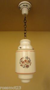 Vintage Lighting 1930s Porcelain Glass Pendant By Porcelier More Available