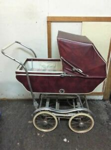 Vtg 1950 S Babyhood Baby Carriage Buggy Stroller By Wonda Chair Red Pickup Only