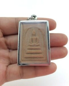 Magic Best Thai Amulets Rare Real Antiques Success Pra Somdej Stainless Frame
