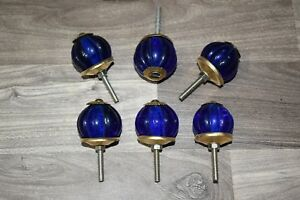 Vintage Cabinet Knobs Kitchen Glass Pulls Or Antique Brass Drawer Handle 6 Pic