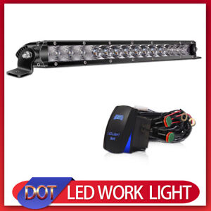 17inch Ultra thin Led Work Light Bar Combo Offroad Light For Truck Boat Jeep Atv