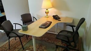Ikea Birch Wood Manual Adjustable Desk