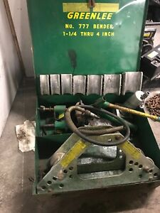 Greenlee 777 1 1 4 4 Pipe Bender W Hydraulic Pump Accessories Green Lee