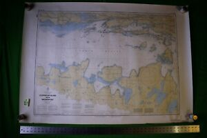Canada Lake Huron Clapperton Meldrum 46 5x33 Vintage 1989 Nautical Chart Map