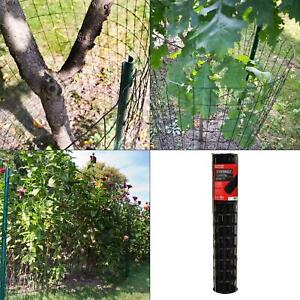 3 Ft X 50 Ft Black Pvc Coated Welded Wire Galvanized Fencing Fence Mesh Roll