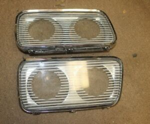 1965 1966 Chrysler Imperial Headlight Units Glass Pair Nice S