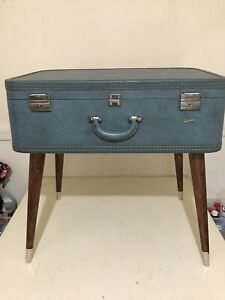 Vintage Mid Century Suitcase End Table