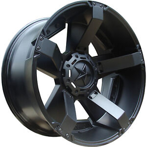 18x9 Black Xd Xd811 rockstar Ii Wheels 5x5 5x5 5 0 Dodge Ram 1500