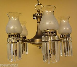 Vintage Lighting 1930s Colonial Set By Lightolier 1 Chandelier 3 Sconces