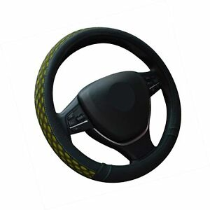 Steering Wheel Cover 15 Inch Universal Summer Ice Silk Green Breathable Non