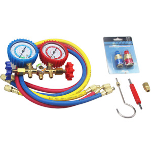 R12 To R134a A C Refrigerant Manifold Gauge Set Hvac Ac W 3ft Charging Hoses