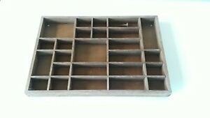 Vintage Divided Wood Box Storage Collection Display Shadow Box 16 3 4 X 11 1 2