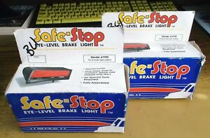 2 1980 S Vintage Nos Safe Stop Eye Level 3rd Brake Light Kits W Instructions Nos