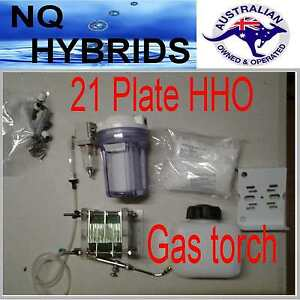 Hho Gas Torch Hydrogen 21 Plate Generator Powered Kit Diy Self Assemble Cell