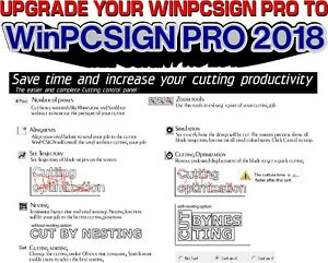 Upgrade Old Winpcsign Pro To Winpcsign Pro 2018 Vinyl Cutter Plotter Software