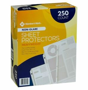 Members Mark Non Glare Poly Top Load Sheet Protectors 250 Use W 3 Ring Binders