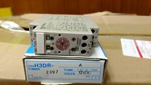 Omron H3dr a Time Delay Relay 1 2s To 120h 12vdc Uic P n 46947401 new