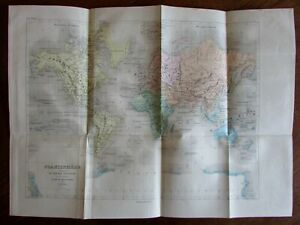Engraved Hand Color Old World Dufour Map