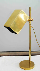 Vintage Koch Lowy Mid Century Modern Brass Adjustable Desk Table Lamp Swivel