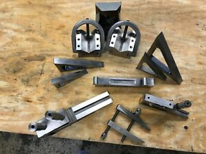 Machinist Set Up Tools Sine An V Blocks Planer Gage 2 Whole Lot One Price