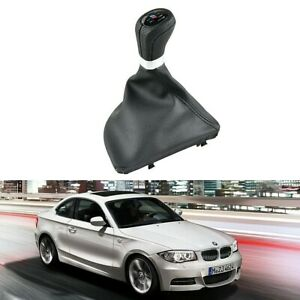6 Speed Manual Gear Shift Knob With Boot Gaiter For Bmw M Performance E81 E87